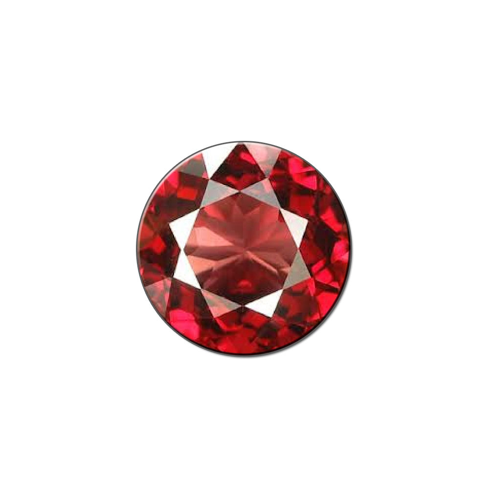 Garnet January Birthstone Faux Resin Lapel Hat Pin Tie Tack Small Round by Graphics and More