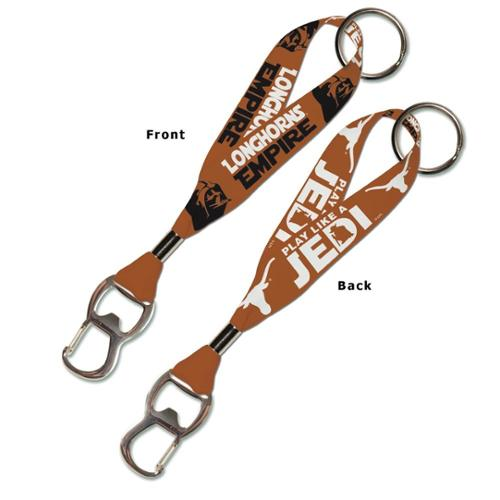 Texas Longhorns Official NCAA 8 inch  Star Wars Lanyard Bottle Opener Key Strap Key Chain Keychain by WinCraft