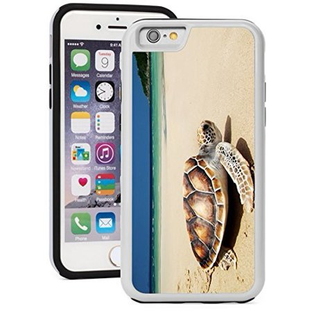 Apple iPhone 5c Shockproof Impact Hard Soft Case Cover Sea Turtle On The Beach (Iphone Repair Vb Inc Virginia Beach Va)
