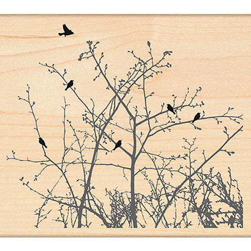 """Winter Ledge - Penny Black Mounted Rubber Stamp 4""""X4.5"""""""