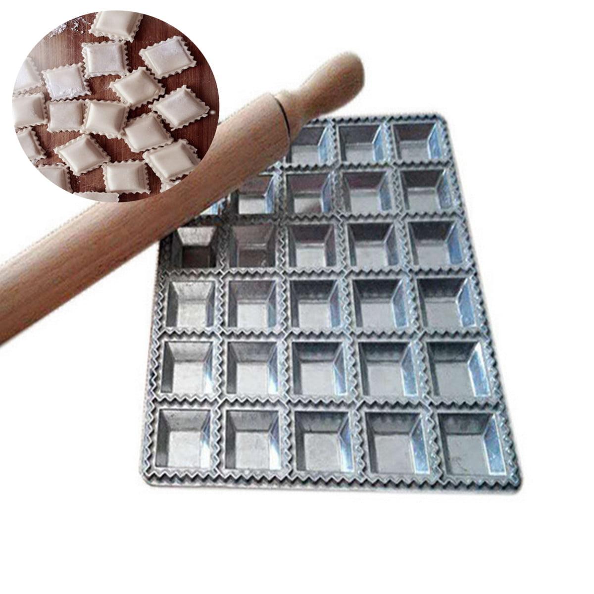 DIY Ravioli Maker Gadgets Press Pasta Dough Dumpling Mold Kitchen Tool Silver by