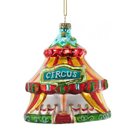 Circus tent glass christmas holiday ornament inches - Cheap circus decorations ...