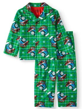 Coat Style Pajamas, 2pc Set (Toddler Boys)