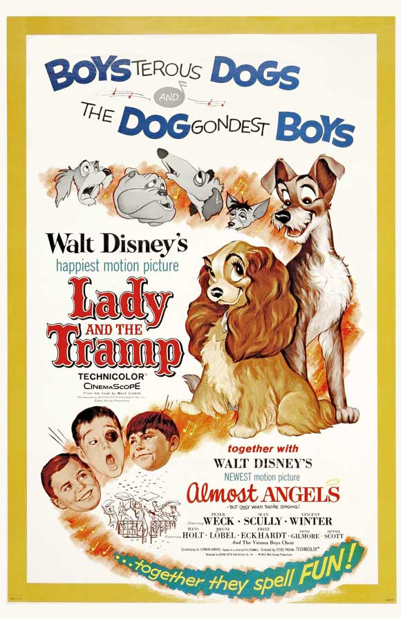 Lady And The Tramp Movie Poster Style D 27 X 40 1955 Walmart Com Walmart Com
