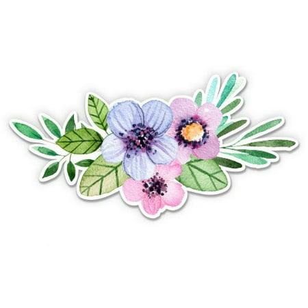 Flower Bouquet Watercolor Boho Cute - Vinyl Sticker Waterproof Decal Sticker 5