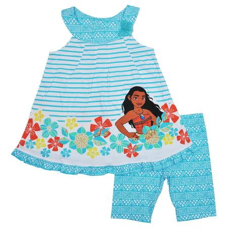 18deba3a55c03 Disney - Disney's Moana Girls 2-Piece Tank Top Shorts Set - Walmart.com