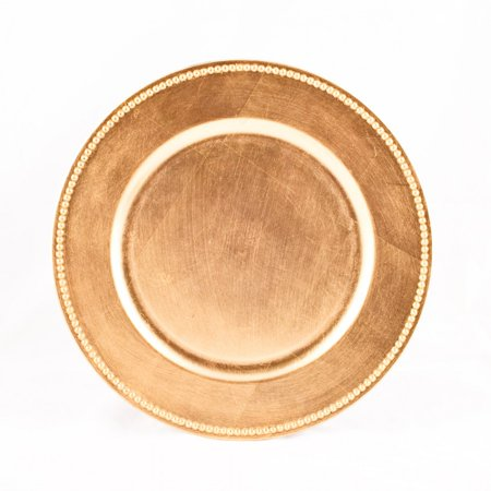 Koyal Wholesale Charger Plates, Gold (Pack of 4) (Gold Chargers Wholesale)