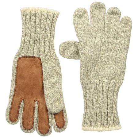 Ragg And Leather Glove Deer Heavy Wool Glovemitten Mitten