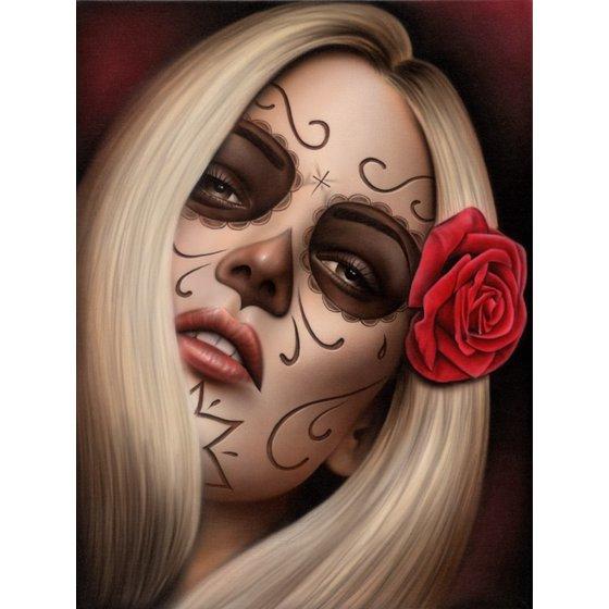 Spiders La Muerta Spider Framed Art Print Death Girl Woman Sexy Sugar Skull