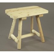 """27"""" Natural Northern Cedar Indoor Log Style Wooden End Table"""