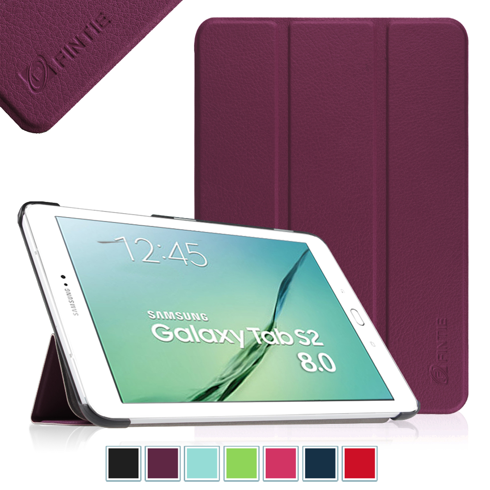 Fintie Samsung Galaxy Tab S2 8.0 / S2 Nook 8.0 Tablet Case - Slim Light Weight Standing Cover, Purple