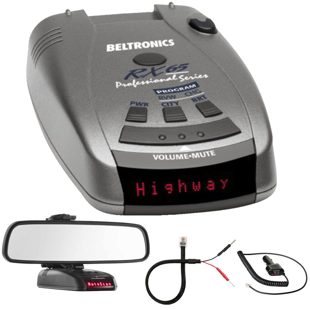 Buy Beltronics RX65 Red Professional Series Radar Laser Detector w  Mirror Mount Kit Includes, RadarMount Radar Detector... by Beltronics