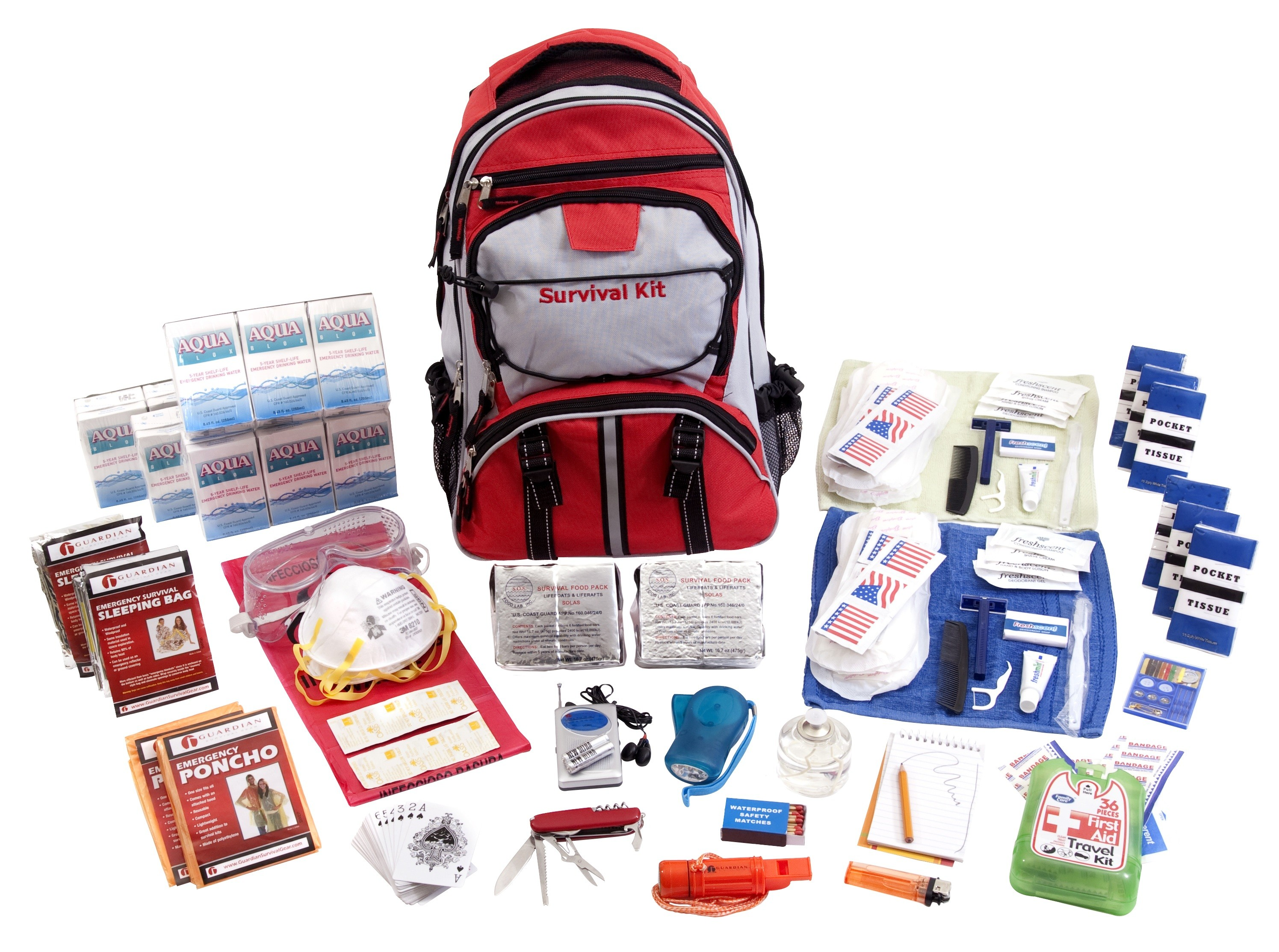 Click here to buy Guardian SKX2 Deluxe Survival Kit 2 Person by Guardian Survival Gear.