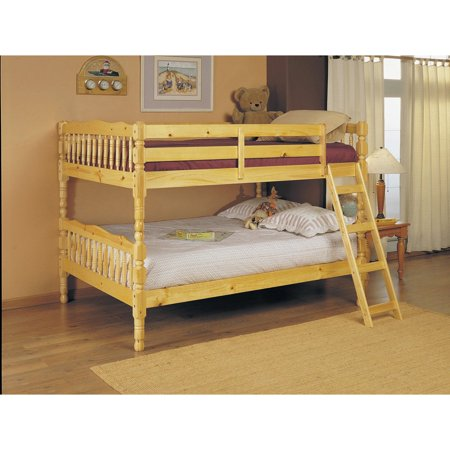 ACME Homestead Full over Full Convertible Bunk Bed in (Natural Kids Bedroom Furniture)
