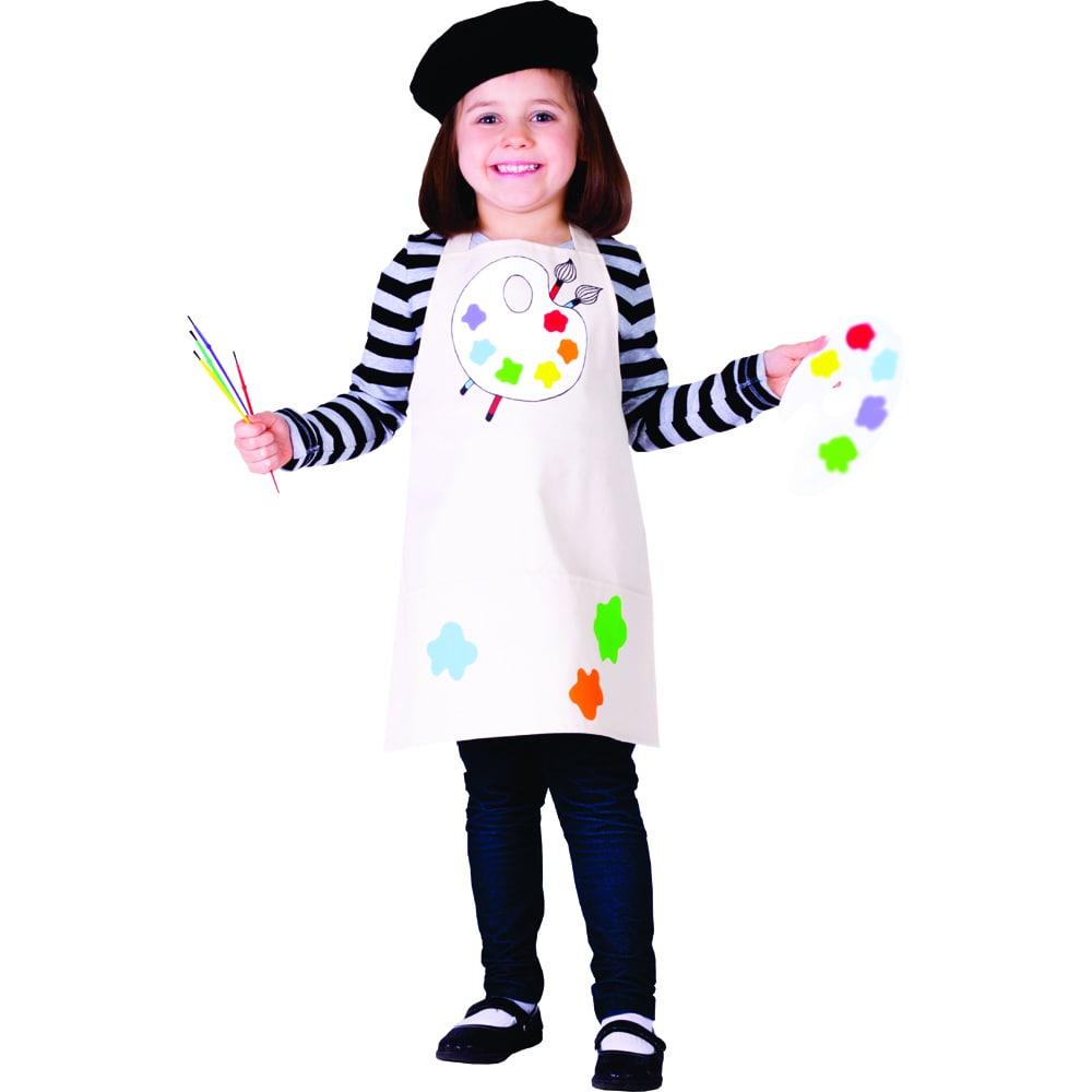Painter Dress Hat Paint Brush Women Costume Man Paint Shirt /& Hat Adult