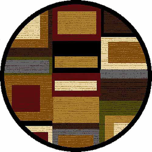 Home Dynamix Royalty Collection Round Area Rug, Multi-Red, 3'