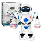 Elecronic Robot Toy Smart Space Dancing Robot Toy Robot Walking Dancing Singing Robot with Musical and Colorful Flashing Lights