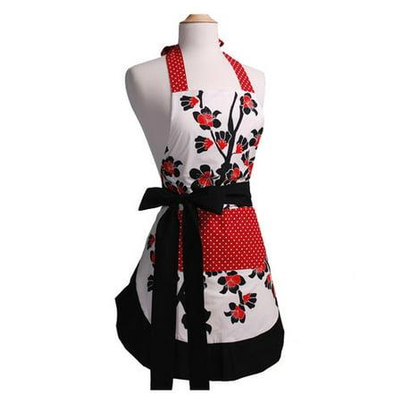 Flirty Aprons Women's Original Apron in Cherry Blossom