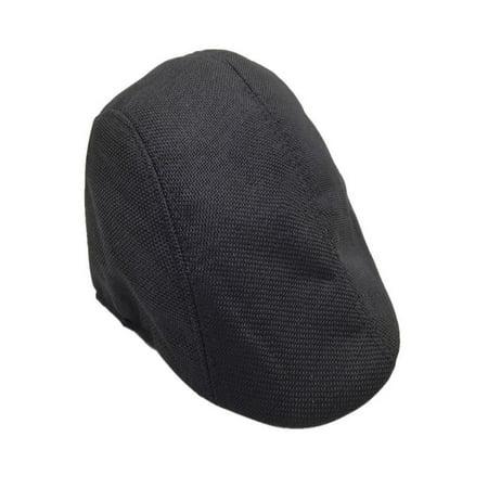 OkrayDirect Men Summer Visor Hat Sunhat Mesh Running Sport Casual Breathable Beret Flat Cap