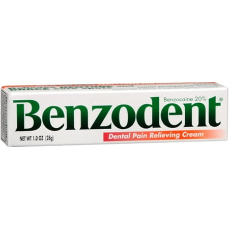 Benzodent Dental Pain Relieving Cream 1 oz (Pack of