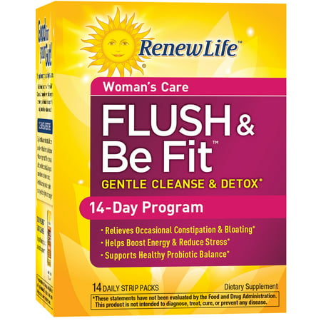 Renew Life - Flush & Be Fit - Woman's Care - detox & cleanse supplement for women - 14 day (Best 1 Week Detox)