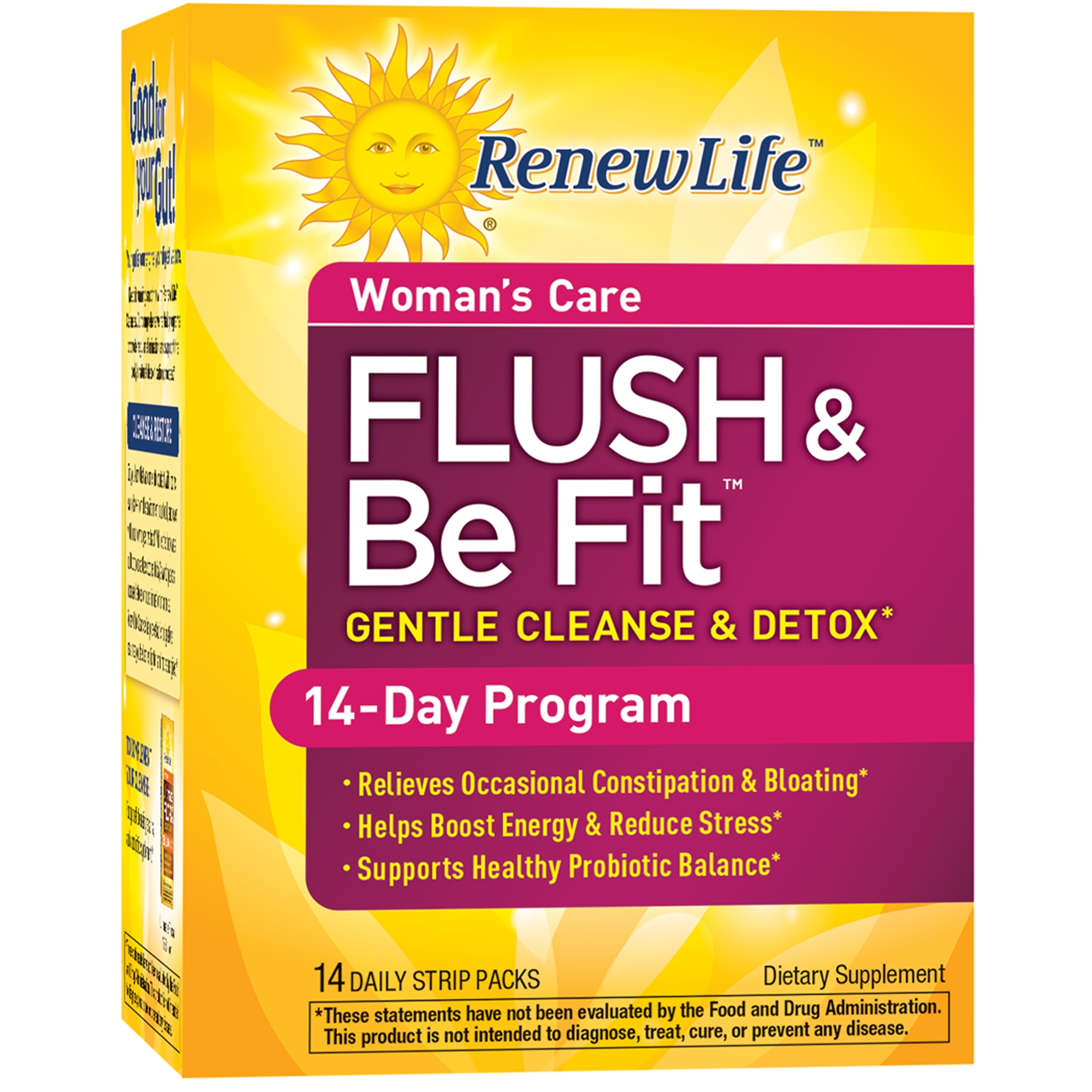 Renew Life - Flush & Be Fit - Woman's Care - detox & cleanse supplement for women - 14 day program