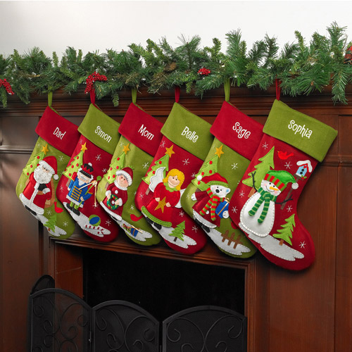 Personalized Home for the Holidays Christmas Stocking