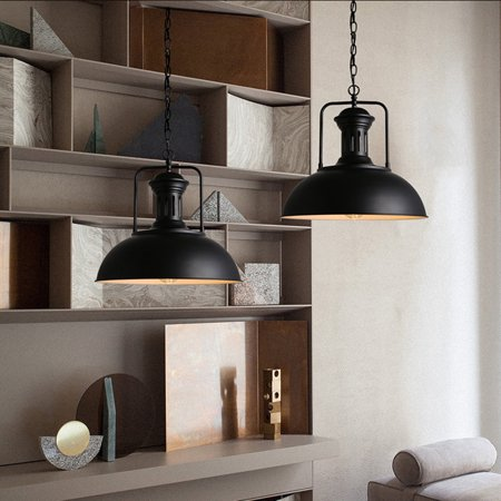 220V Industrial Metal Hanging Pendant Light Ceiling Light, Retro Vintage Lampshade Fixture Lighting For Bar Dining Living Room Cafe Home Decor