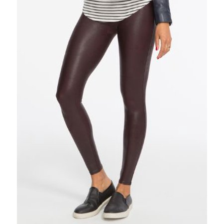 44a4fe54d Spanx - SPANX Ready-to-Wow Faux Leather Shaping Leggings - Walmart.com