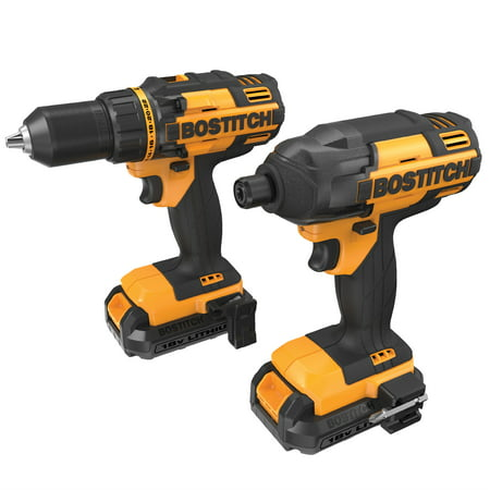 BOSTITCH BTCK410L2 18V Lithium Cordless Drill & Impact Combo Kit