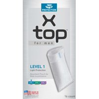 X-top for men Level 1 Light Protection Male Incontinence Pouch 16 Count