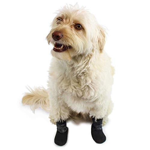 Walkin Dog Socks Anti Slip With Traction Waterproof Sole Boots For Hardwood Floors And Indoor Paw Protection