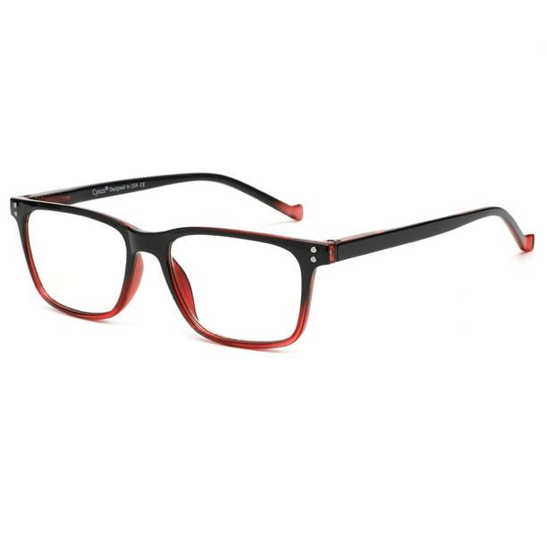Unisex Clear Lens Nerd Geek Anti blue Computer Glasses Red Frame