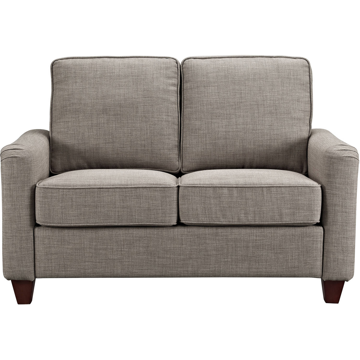 "Better Homes and Gardens 52"" Grayson Loveseat with Nailheads, Grey"