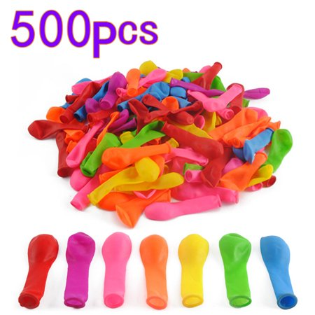 500Pcs No.3 Water Balloons Toys Fight Games for Beach Party - Color Random ()