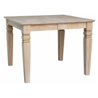 """Java Butterfly Leaf Dining Table, 18"""" Leaf"""