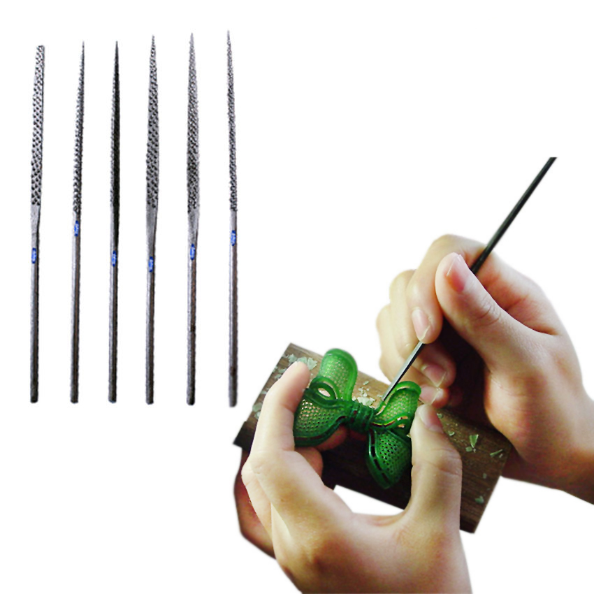 WAX NEEDLE FILE SET 6 Pcs ASSORTED JEWELRY PLASTIC WOOD CLAY SHAPING CUTTER TOOL