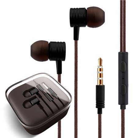 FREEDOMTECH Earphones in Ear Headphones Earbuds with Microphone and Volume Control for iPhone, iPod, iPad, Samsung Galaxy, Xaiomi and Android Smartphone Tablet Laptop, 3.5mm Audio Plug - Ipod Controls