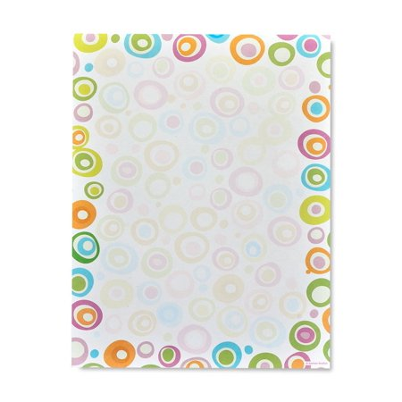 Gartner Studios Multicolor Circles Stationery, 100 count 100 Ct Stationery