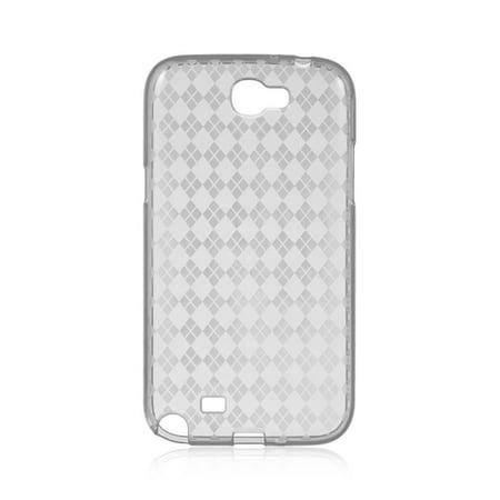 Samsung Galaxy Note 2 Case, by Insten Checker Rubber TPU Case Cover For Samsung Galaxy Note II, Hot Pink - image 2 de 3
