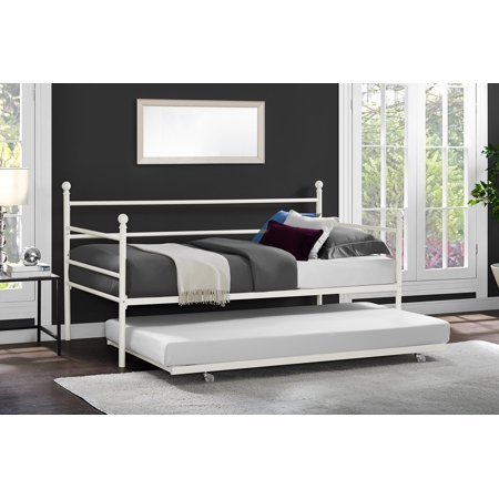 Mainstays Metal Daybed and Trundle, Multiple Colors ()