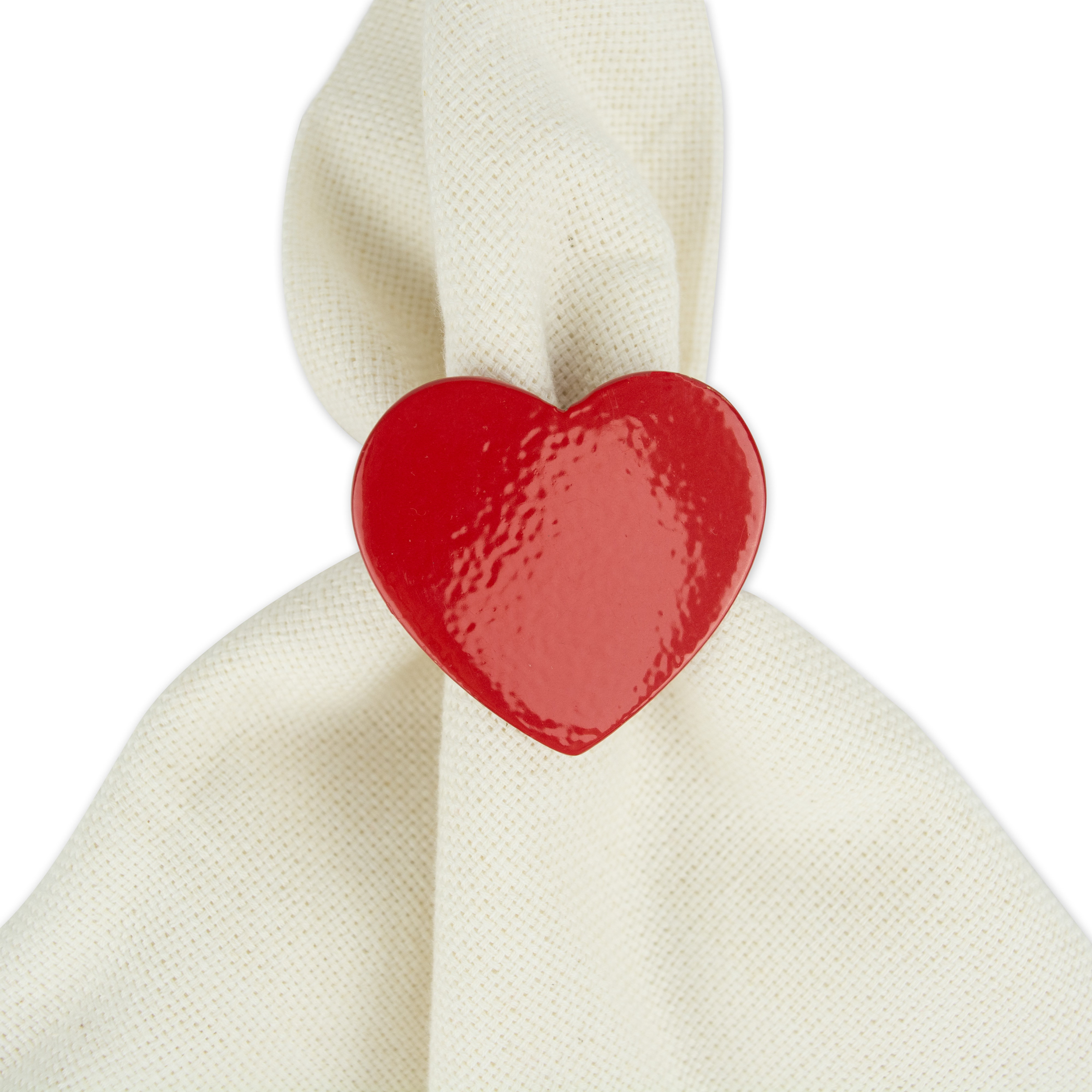 Set of 4 DII Red Rooster Napkin Rings