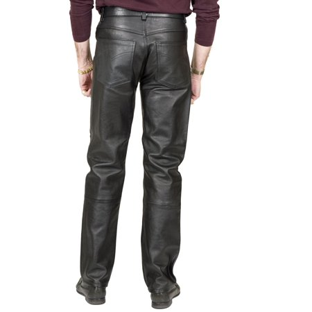Black Pants Faux Leather Jeans Pleather Disco Mens Halloween Costume - Small Mens Costumes