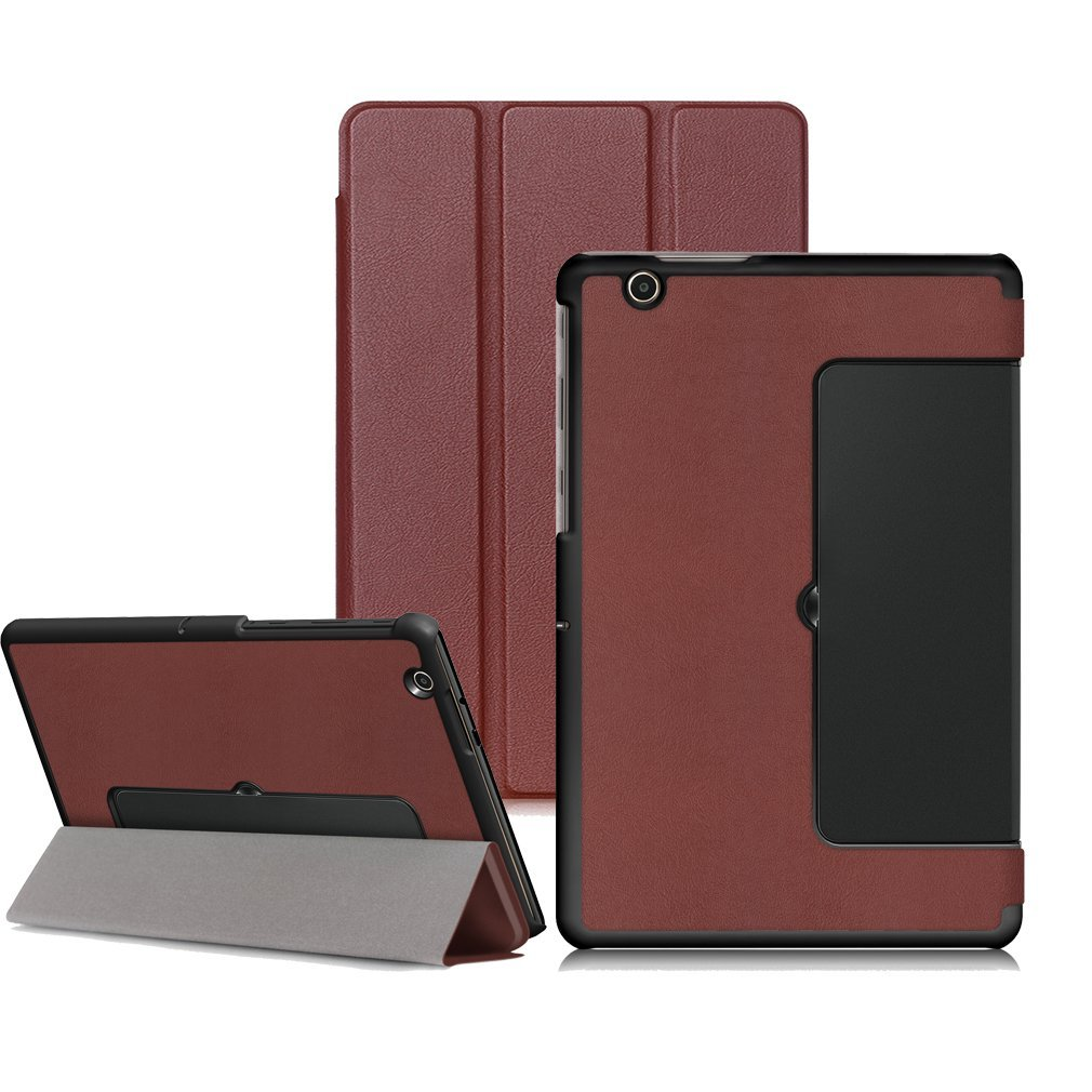 """LG G Pad X II 10.1/ G Pad 3 10.1 Case, Goodest Slim Tri-Fold Magnetic PU Leather Stand Cover Case for LG G PAD X II 10.1 UK750 / G Pad 3 10.1 V755 10.1"""" Tablet, Brown"""