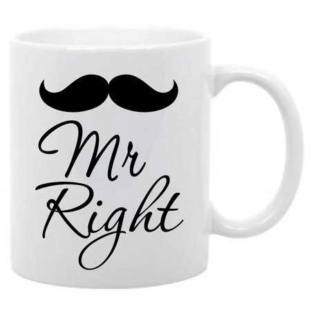 Mr. Right Coffee mug Gift for him Father's Day (Cheap Gifts For Father's Day)