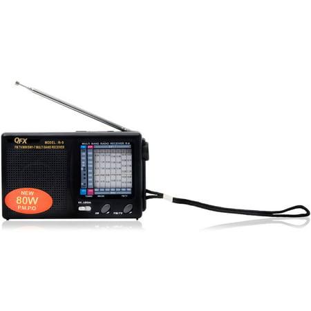 QFX R-9 AM/FM/MW/SW1-SW7 10-Band Shortwave Radio