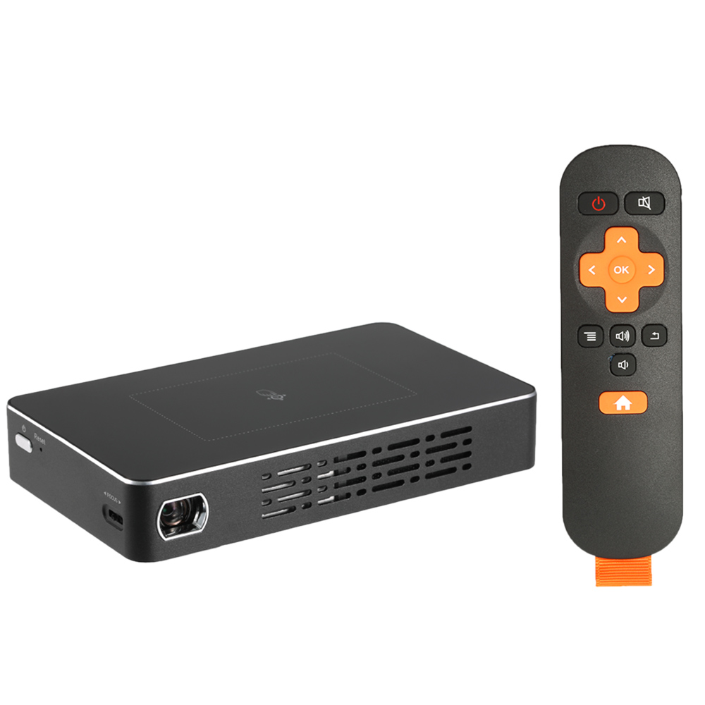 Docooler DLP Projector Android 4.4 TV BOX 2 in 1 Contrast...