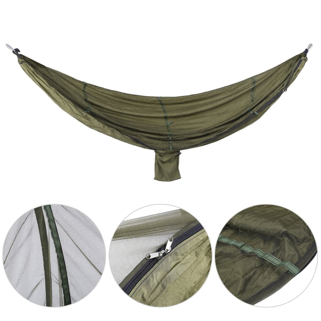 Outdoor Camping Metal Buckle Anti Mosquito Net Hanging Sleeping Hammock Bed