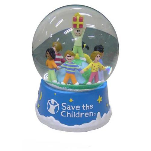 Set of 3 Save the Children Musical Christmas Waterglobes