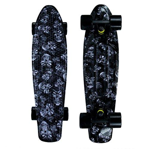 "Mayhem Penny Style Skateboard Skulls 22"" Cruiser Board"